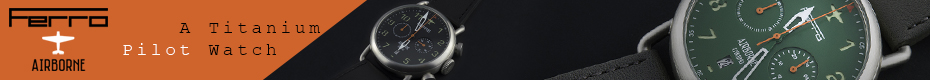 Ferro Airborne -  An Aviation Inspired Titanium Pilot Watch