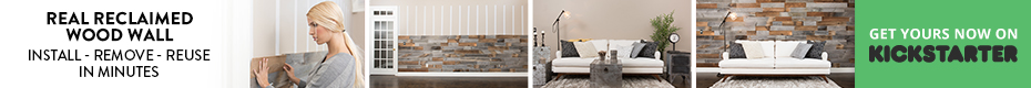 Artis Wall: Removable Reclaimed Wood Accent Walls