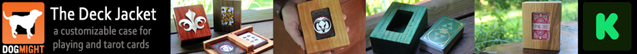 The Deck Jacket - A High Quality Wooden Card Holder