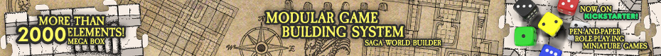 Saga World Builder: Modular tiles for your tabletop games.