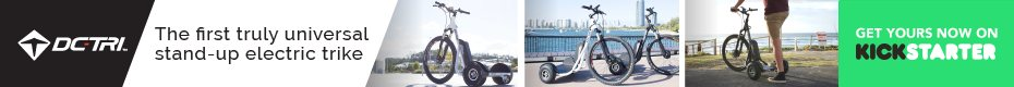 DC-Tri: The First Truly Universal Stand-Up Electric Trike