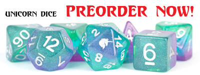 Unicorns RPG Polyhedral Dice Sets