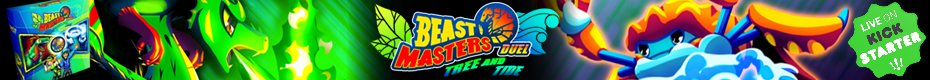 Beast Masters Duel: Tree and Tide with Custom Meeples!
