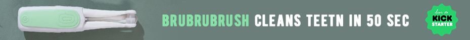 BRUBRUBRUSH | Toothbrush that perfectly cleans for 50 sec