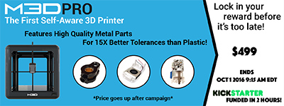 M3D Pro: Feature-Packed 3D Printer for Improved Reliability