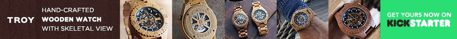 Troy: Handcrafted Wood Watch with Visible Skeleton