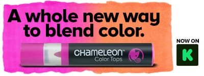 Chameleon Pens Color Tops: Seamless Color To Color Blends