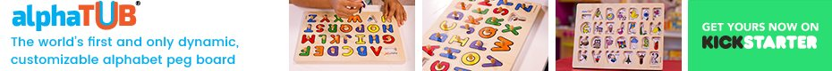 alphaTUB | The World's First Dynamic Alphabet Peg Board