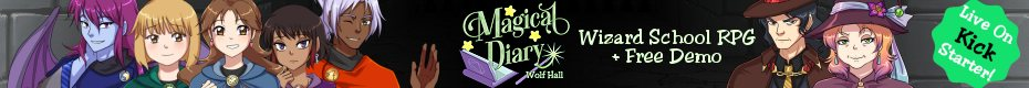 Magical Diary: Wolf Hall - A Wizard School RPG + Dating Sim - Ad A