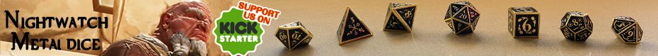 Fantasydice Nightwatch Metal Dice - Ad B