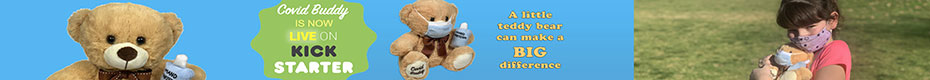 Covid Buddy: A little teddy bear can make a BIG difference. - Ad A